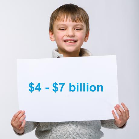 Eli holds up $4 to $7 billion sign