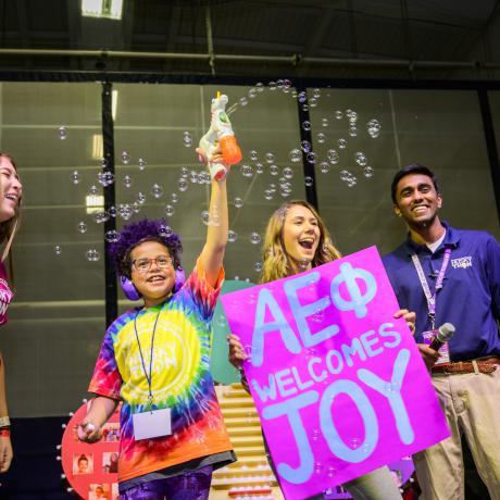Joy, excited to celebrate HuskyTHON 2020