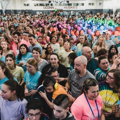 Dancers at HuskyTHON in February 2020