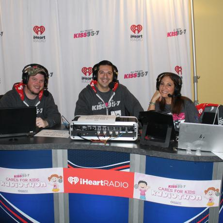 iHeart DJs on air during Radiothon