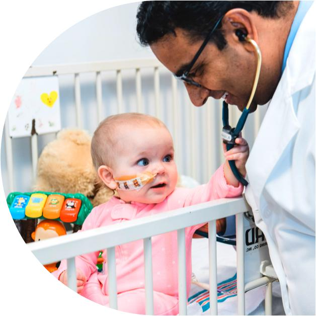 Doctor with infant