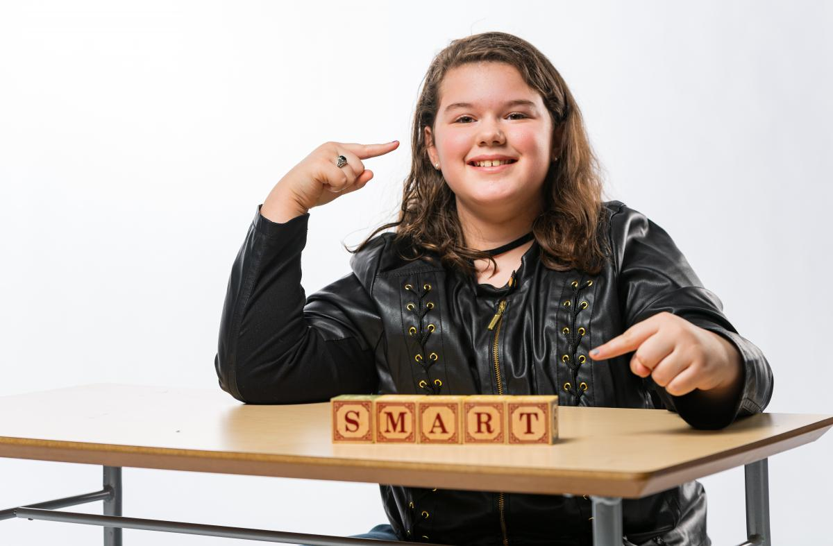 Tori, smart and smiling