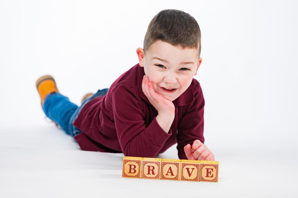 Levi is a brave little boy