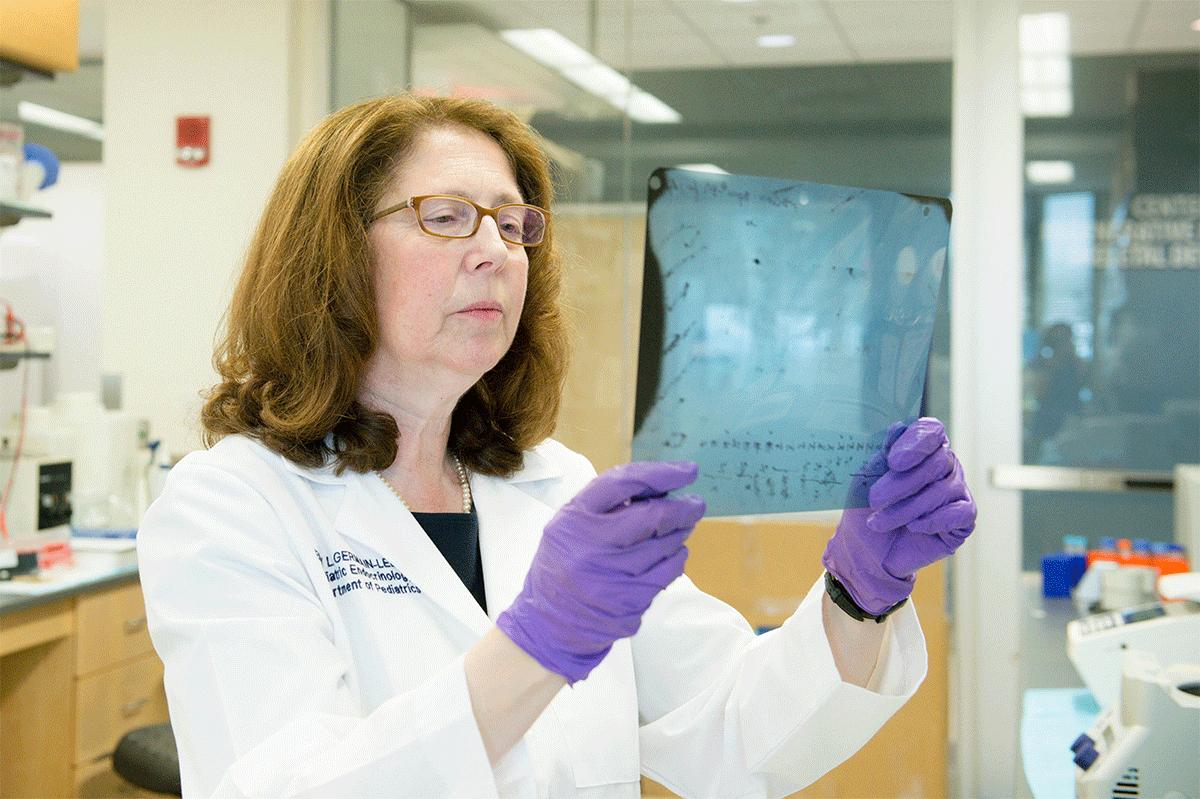 Dr. Germain-Lee in her lab